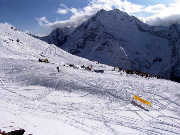 Горные лыжи в России на Новый год